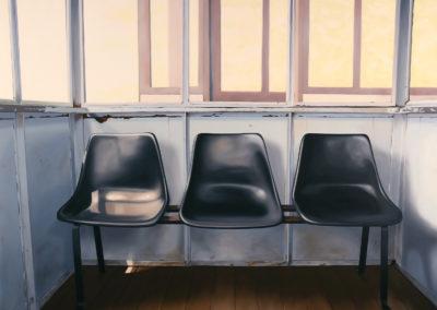 Three Black Seats, Valparaiso 47x63 2007