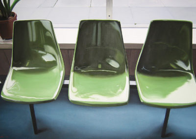 Three Green Seats 32x52 2003